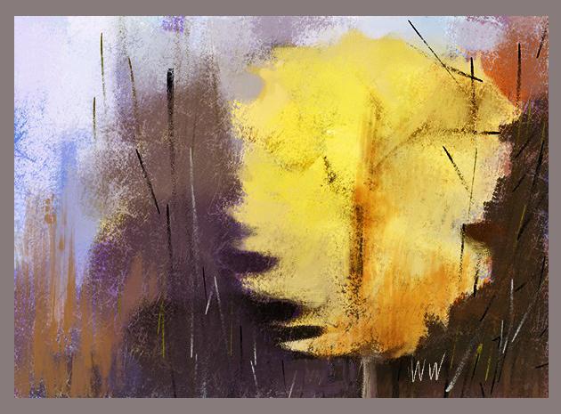 WW Yellow Tree Abstract