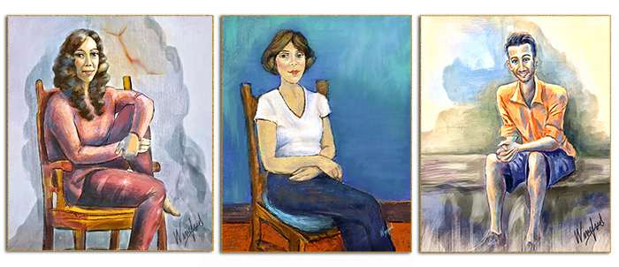 Alice Neel Inspired Paintings by Winifred
