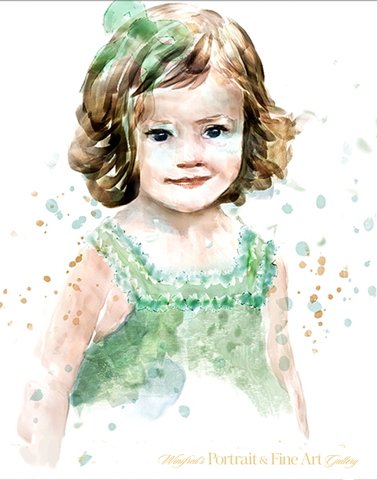 Watercolor portraits winifred s portrait fine art gallery for Paintings of toddlers