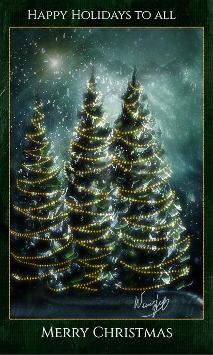 -Happy Holidays  from Winifred