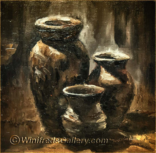 Three Vases Still Life Winifreds Portrait Fine Art Gallery